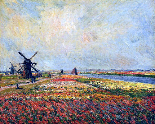 Fields of Flowers and Windmills near Leiden1